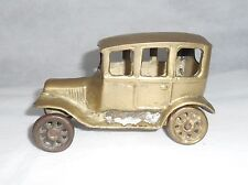 Old Vtg Collectible Brass Ford Model T Toy Car Automobile Desk Ornament