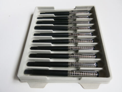 Parker Vector Black SS Chiselled Rollerball Pen Tray of 10