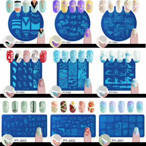 PICT-YOU-Nail-Art-Stamping-Plates-Image-Stamp-Template-Rectangle-Square-Round