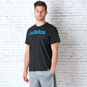 New-adidas-QQR-Linear-Logo-Mens-Cotton-Crew-T-Shirt-top-Sz-S-36-38-034-Black