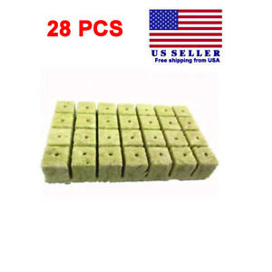 Rockwool Stonewool Hydroponic Grow Starter Cubes for Cuttings 1.5 inch 28pcs