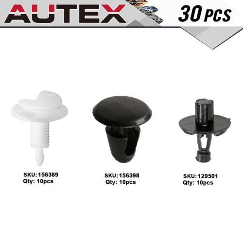 30 Pcs Door Trim Panel Hood Seal Clip Fastener Kit for 2007-2010 Lexus GS350