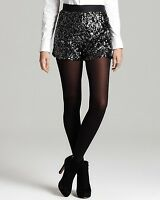 French Connection Lucinda Black Sequin Dress Shorts Sz 4 $198