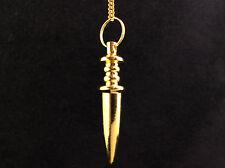 Golden Metal Sword Pendulums, Metaphysical Crystal Healing, Reiki