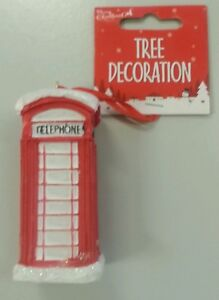 Christmas Tree Decoration Telephone Box Christbaumschmuck London