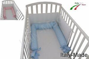 Infanzia E Premaman Lettini Riduttore Lettino Culla Paracolpi Sfoderabile Lavabile 220 Cm Made In Italy