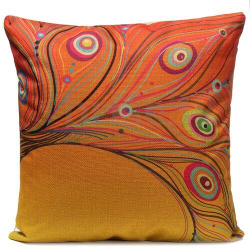 Leaves Feather Linen Cotton Cushion Cover Throw Pillow Case Home Sofa Car Decor