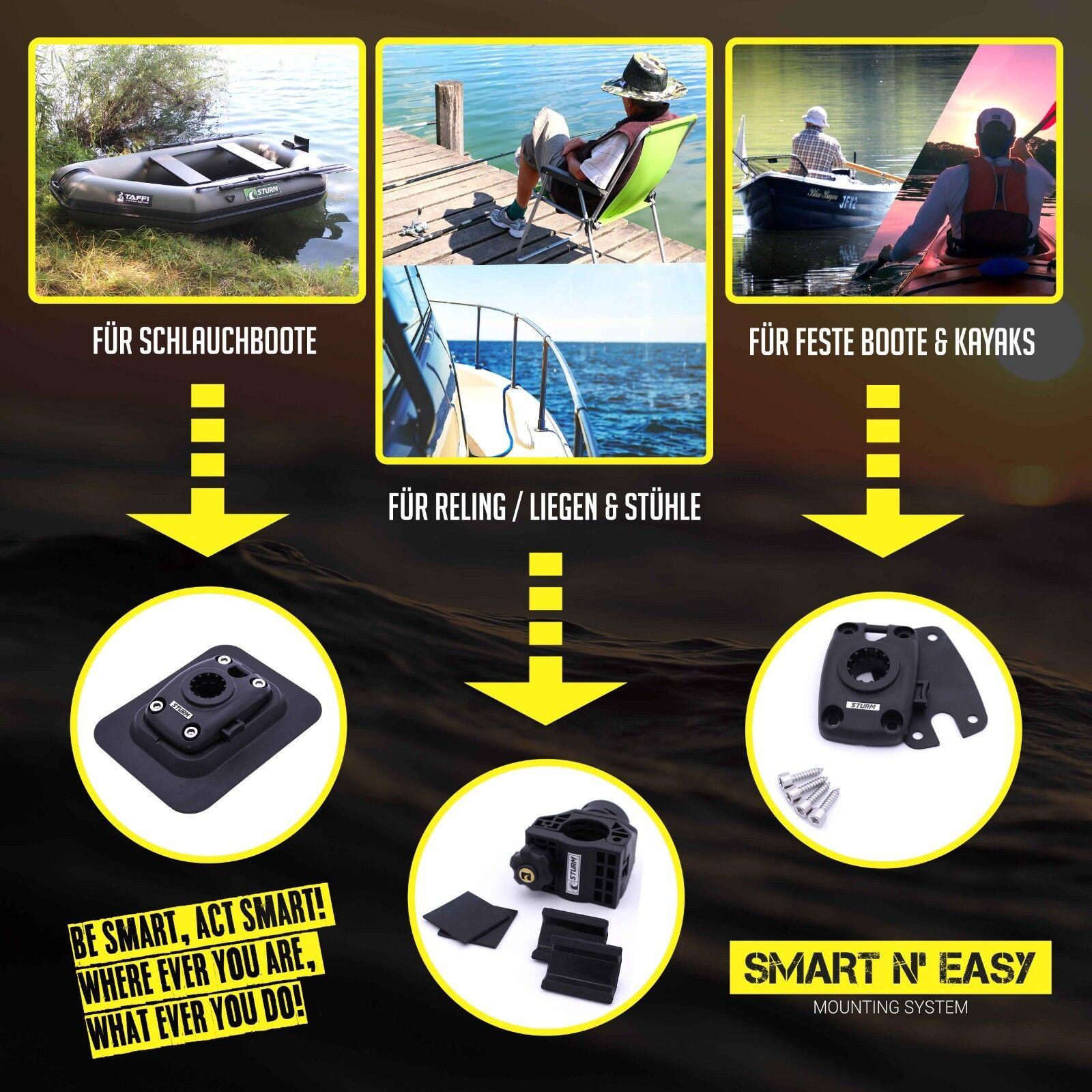 SMART N' EASY Rutenhalter eXtreme + Grundschloss für für Grundschloss Kayaks und (Schlauch-)Stiefele 72e77e