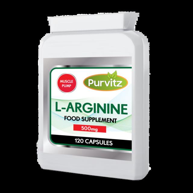 L-Arginine HCL 500 mg Haute résistance Acide Aminé Oxyde Nitrique Augmenter Taille + pompe