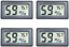 thumbnail 1 - Veanic 4 Pack Mini Digital Electronic Temperature Humidity Meters Gauge Indoor