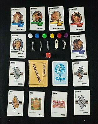 Vintage Clue Board Game Replacement Pieces Tokens Cards Weapons Your Choice