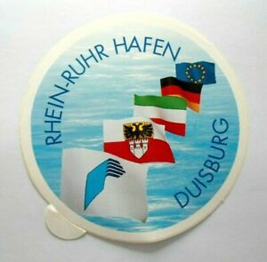 Promotional Stickers Duisburg Rhein Ruhr Port Inland Port NRW Ruhr Pot 90er