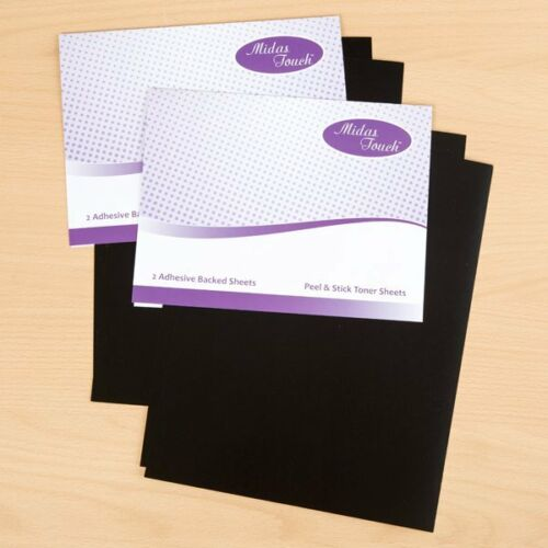 """Midas Touch Peel /& Stick Toner Sheets Two 8/""""x10.5/"""" sheets in pack FREE P/&P"""