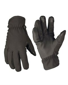 Softshell-Guantes-Thinsulate-Negro-Guantes-exterior-MILITAR-nuevo
