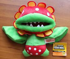 "New Super Mario Bros Petey Piranha 7"" Plush Doll Stuffed Flower Nintendo Toy Tag"