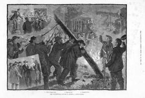 1884-Antique-Print-USA-Presidential-Canvass-Pole-Raising-Barrel-Orator-153