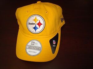 c5e955b74 Image is loading PITTSBURGH-STEELERS-LEATHER-STRAP-NEW-ERA-HAT-CAP-