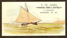 VTC T.W. Long COFFEE TEA SPICES Tilton New Hampshire NH Close SAIL BOAT