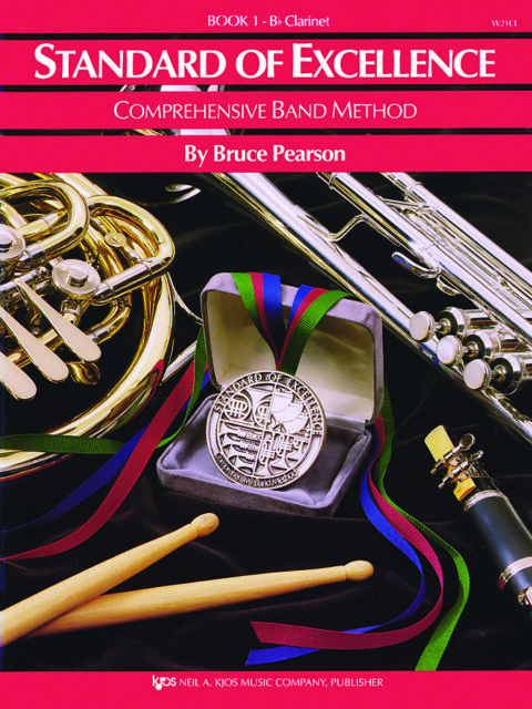 Books 1 and 2 Bb Clarinet Standard of Excellence Comprehensive Band Method
