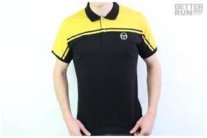Sergio-Tacchini-Polo-Shirt-New-Young-Line-Polo-Archivio-Black-Mustard