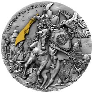 CHINGGIS-KHAAN-2-Oz-Silver-Coin-5-Niue-2019-PRESALE