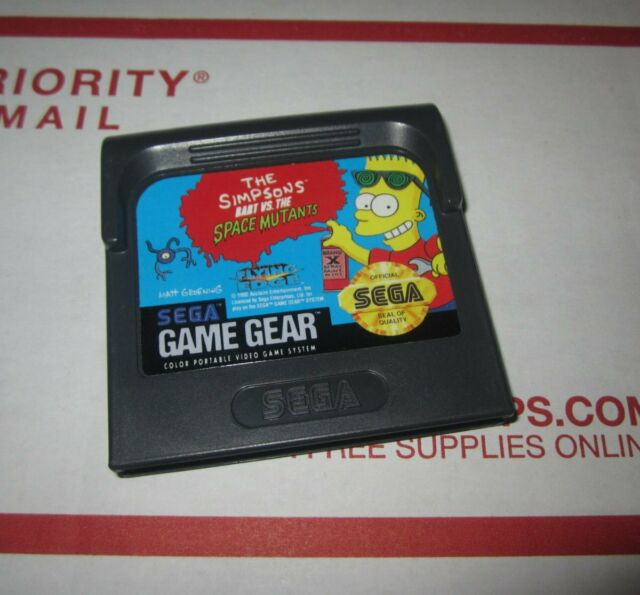 The Simpsons Bart vs The Space Mutants Sega Game Gear Cartridge No Case. Tested