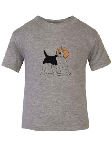 Basset Hound Dog With Bone Cotton Toddler Baby Kid T-shirt Tee 6mo Thru 7t