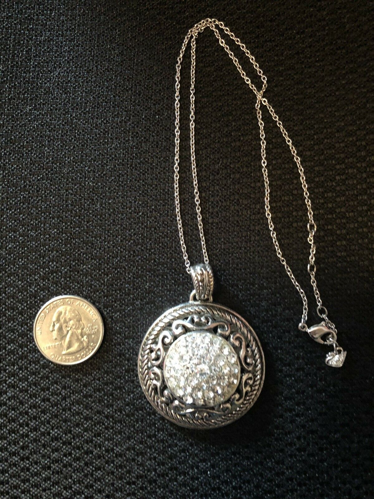 Swarovski Pendant And Chain Authentic