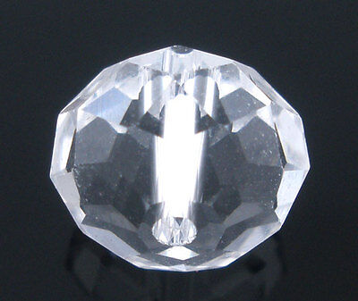 50 Klar Kristall Facettiert Böhmische Glasschliffperlen Beads 10mm