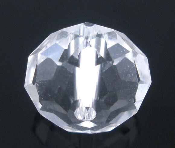 10 Glasschliffperlen 10 mm in klar