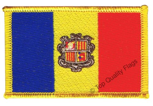 Andorra Flag EMBROIDERED PATCH 8x6cm Badge