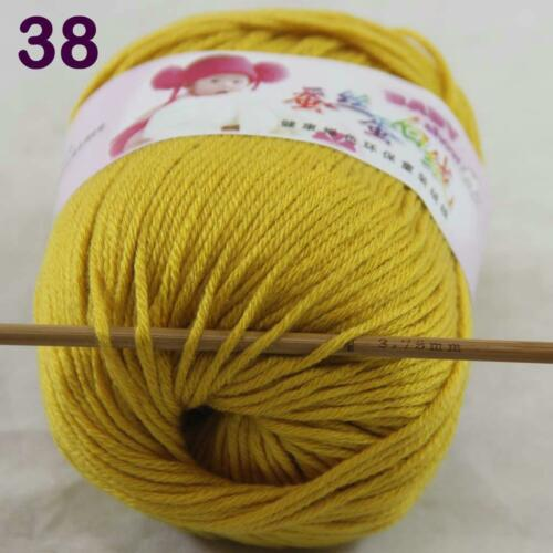 C Hot 1Skein X50g Thread Cashmere Baby Silk Velvet Finger Knitwear Scarf Yarn 38