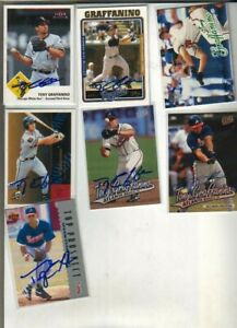 (7) Tony Graffanino Autographed Baseball Cards ALL DIFFERENT Braves2