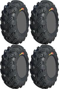 Four-4-GBC-Dirt-Devil-ATV-Tires-Set-2-Front-22x8-10-amp-2-Rear-25x12-10