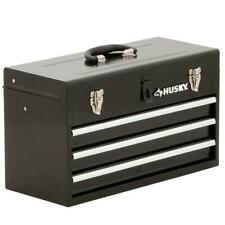 20 In 3 Drawer Small Metal Portable Tool Box With Drawers And Tray