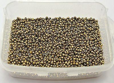10000 Opaque Bronze Glass Seed Beads 1.5mm (12/0) + Storage Box