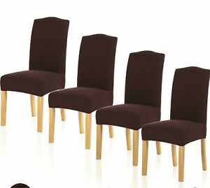 4 eStretch Dining Room Chair Cover Wedding Banquet Seat ...