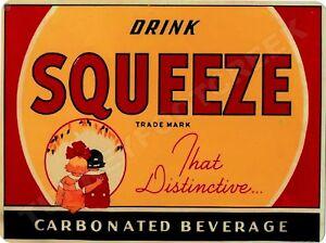 "DRINK CHEERWINE SODA  9/"" x 12/"" Sign"