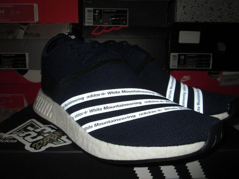 Adidas WM CONSORTIUM NMD R2 RUNNER WHITE MOUNTAINEERING SIZE 12 NAVY WHT BB3072