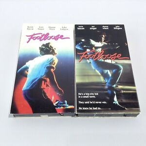 LOT 2 FOOTLOOSE Movie Film (VHS 1997, 2001) Video Tape Vintage Kevin Bacon Retro