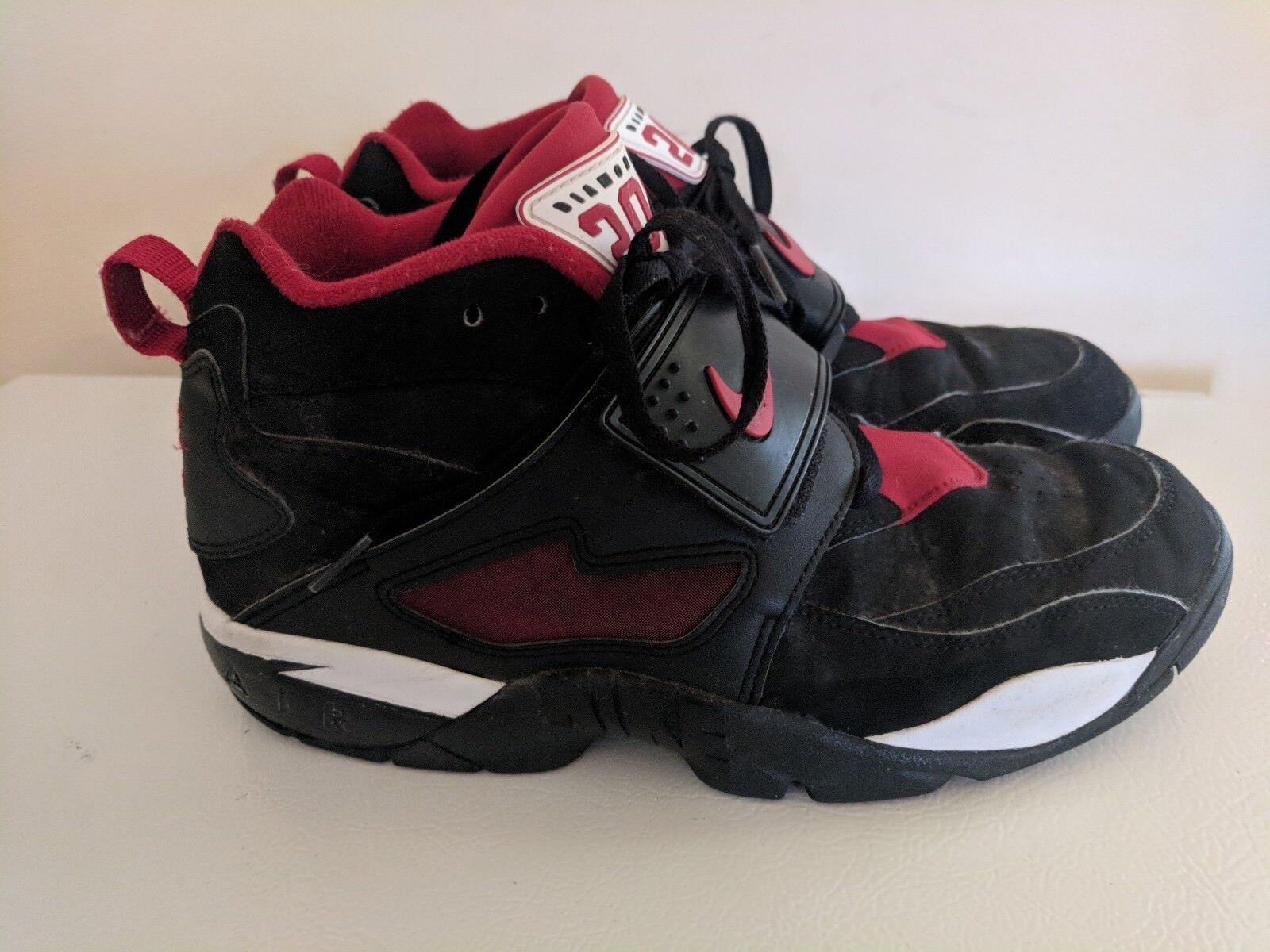 Nike diamond zona dt deion sanders nero / varsity scarpe rosse 309434 060 numero 10