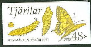 SWEDEN (H438) Scott 2023a, Butterflies booklet, VF