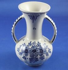 Delft Blue Vase with Handles Keramische Industrie M. De Wit Holland Hand Painted