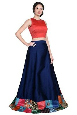 Well-Educated Ethnic Party Wear Lengha Lehenga Choli Skirt Printed Low Price Wedding Wear To Make One Feel At Ease And Energetic Clothing, Shoes & Accessories