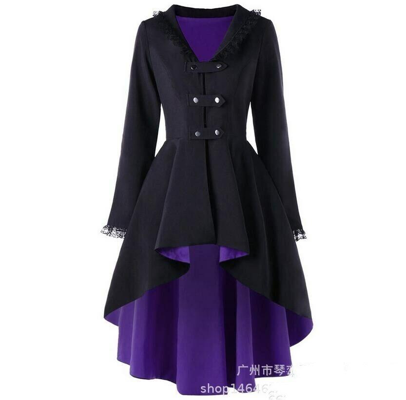 NEW Spring Women Tuxedo Windbreaker Long Coat Parkas Large Lapel Outwear Trench