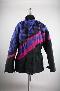 Harro-Motorradjacke-Gr-XL-Polyamid-mit-Innenjacke-schwarz-rosa-lila-Top-Zustand