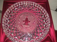 """WATERFORD CRYSTAL 12 DAYS OF CHRISTMAS PLATE DISH 1991 EIGHT MAIDS A MILKING 8"""""""