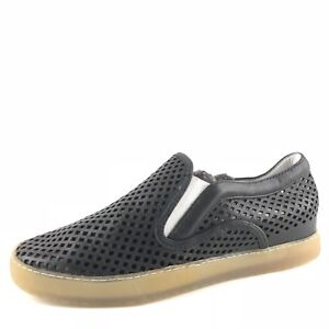 Dolce-Vita-Perforated-Black-Leather-Casual-Slip-On-Sneakers-Women-s-Size-9-5-M
