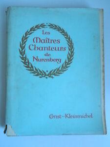 Wagner-Las-Maestros-Cantores-De-Nuremberg-Ernst-Kleinmichel-Schott-Partitura