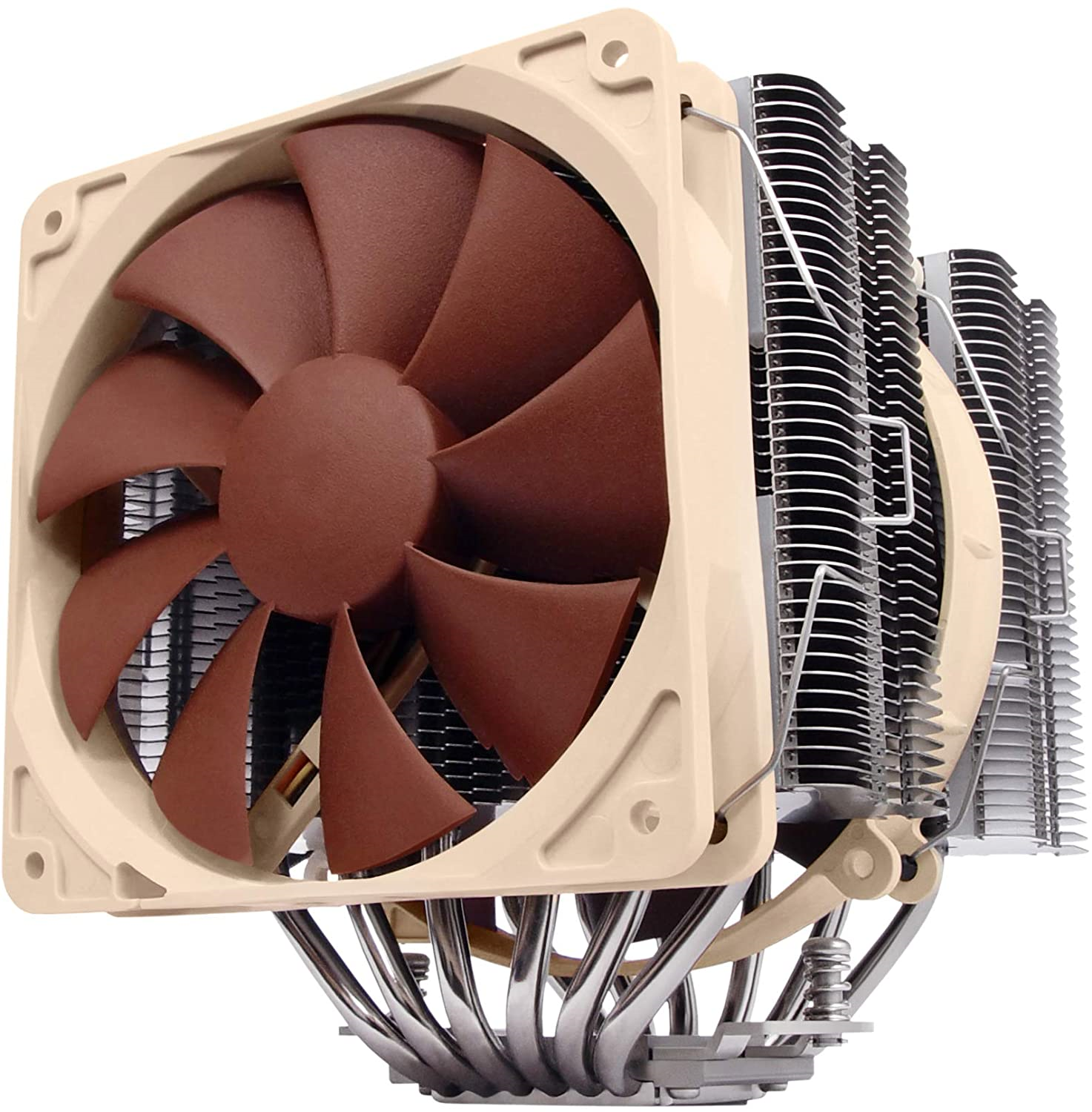 Noctua NH-D14, Premium CPU Cooler with Dual NF-P14 PWM and NF-P12 PWM Fans Brown